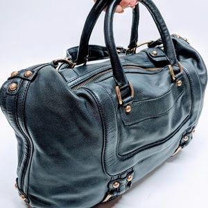 Banana Republic Leather Moto Weekender Bag